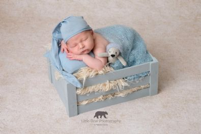 Blue Crate | Newborn Baby Posing Limited